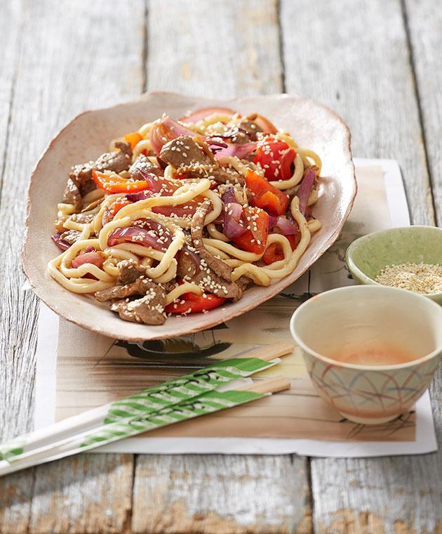 Japanese Ginger Beef and Teriyaki Noodles - Australian Celebrity ...