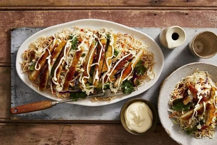 chicken-katsu-noodle-salad