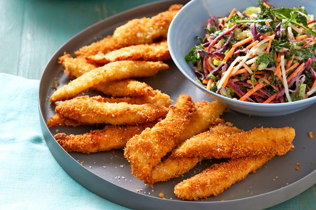 Chipotle Chicken Tenders with Slaw
