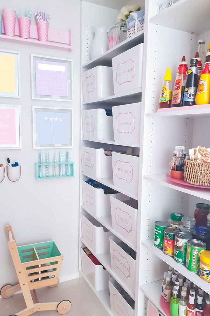 This Blogger S Kmart And Ikea Inspired Pantry Is Out Of This World New Idea Magazine