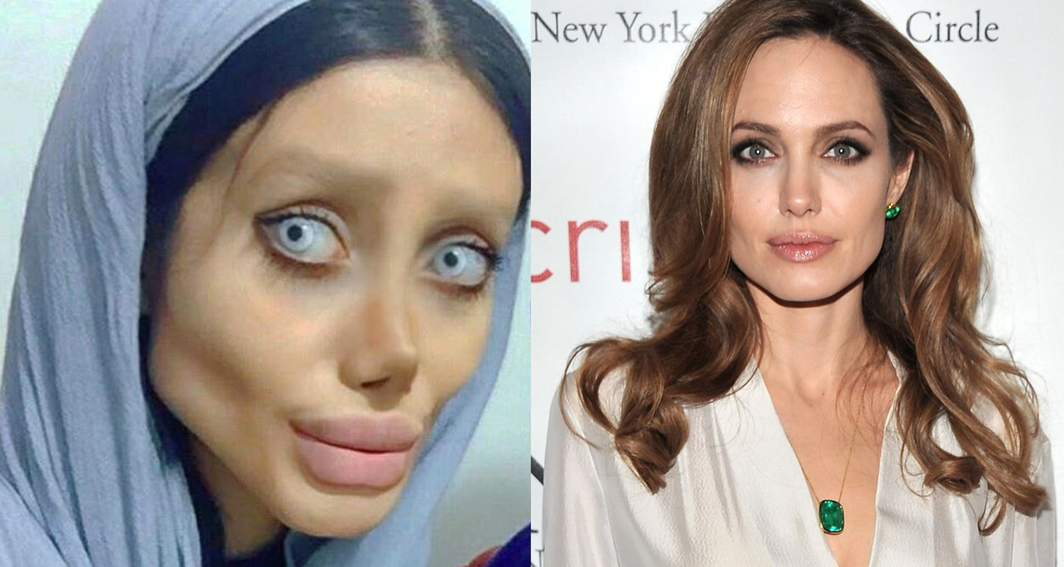 angelina jolie lookalike reveals what she used to look like new