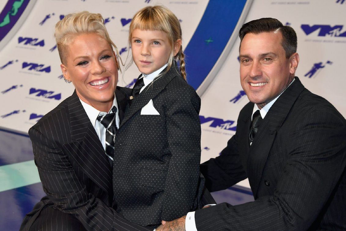 Pink's son gets bloody nose after a fall