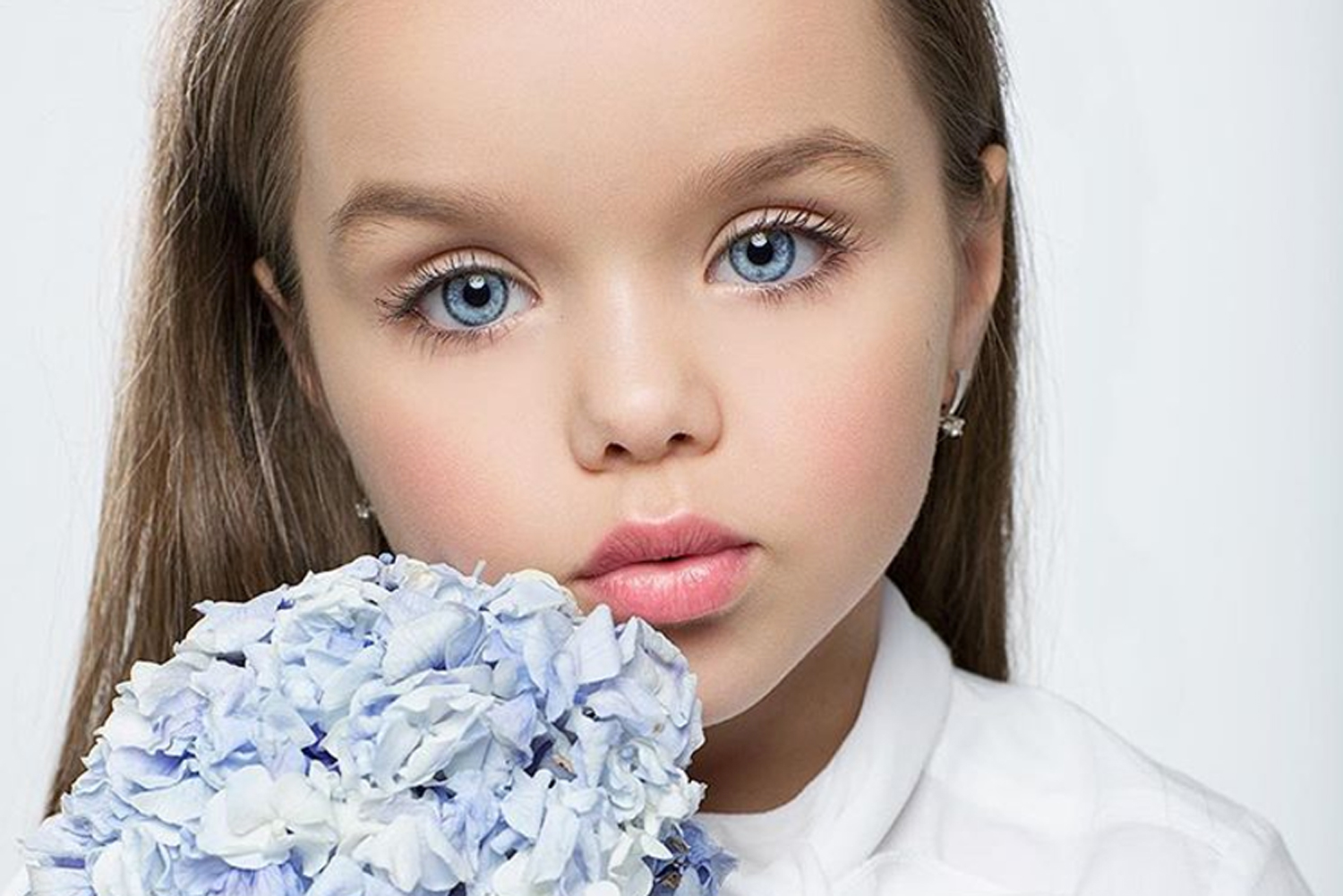 A six-year-old girl has been labelled 'the most beautiful ...