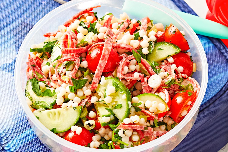 How do you make couscous tabouli salad