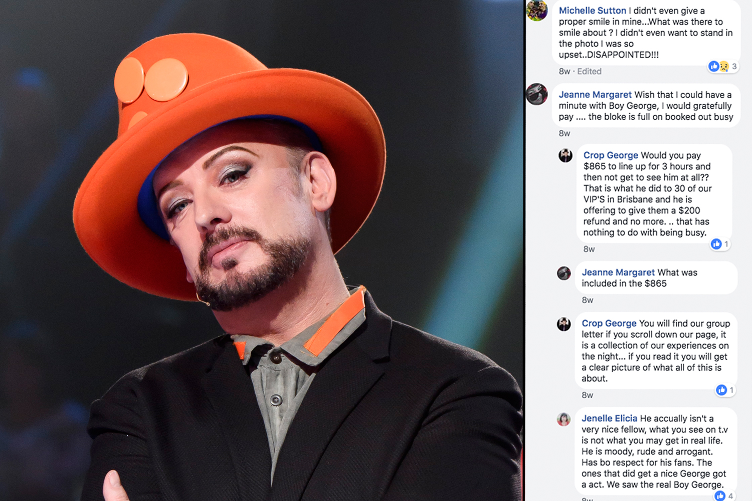 Boy George fans lefts disappointed by VIP meet and greet