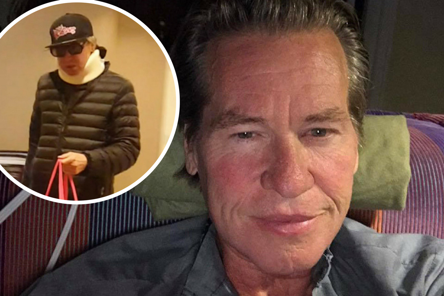 Exclusive Photos Val Kilmer Spotted Wearing Neck Brace As He