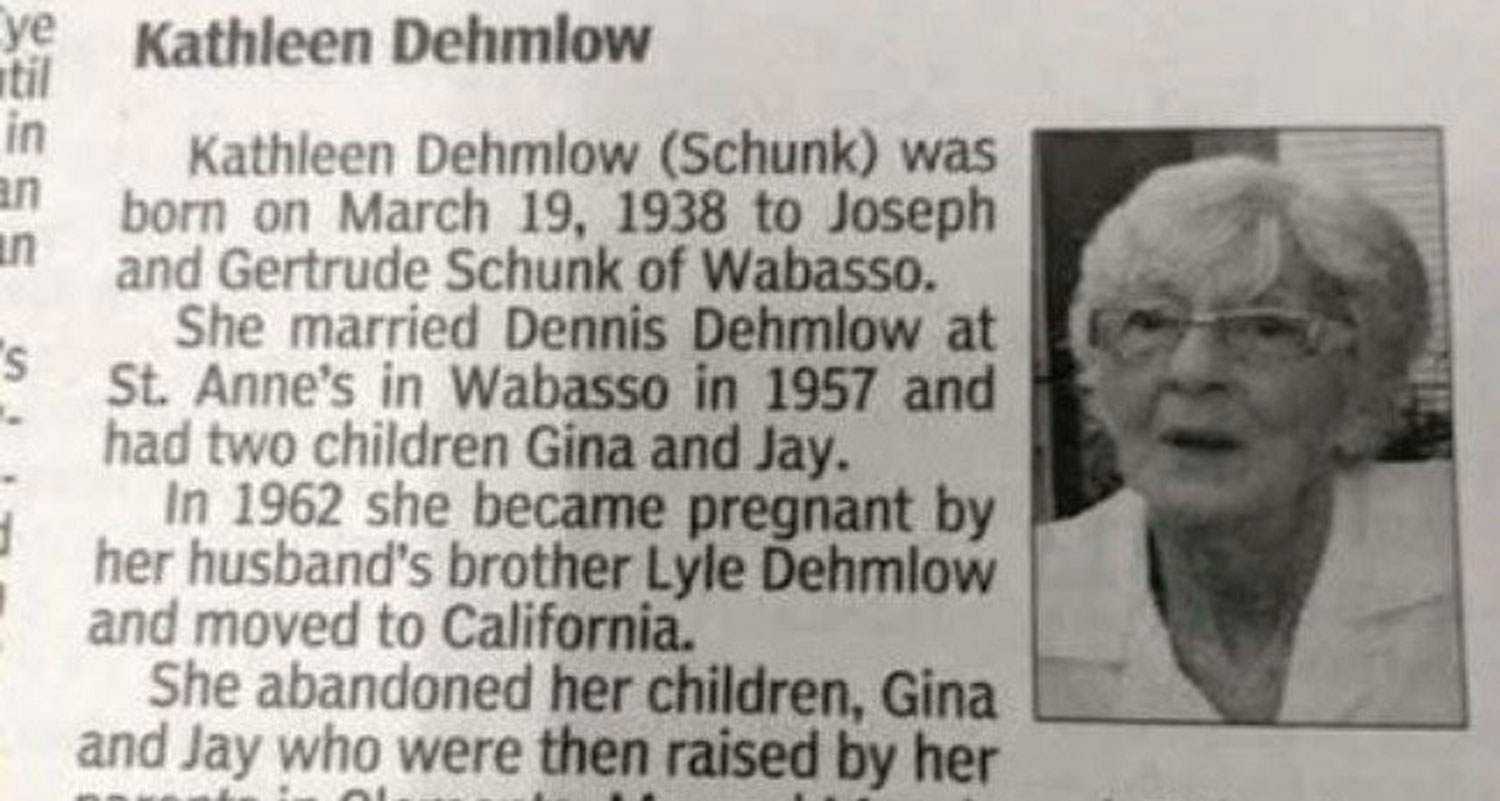 This Great Grandmothers Shocking Obituary Went Viral for All the Wrong Reasons