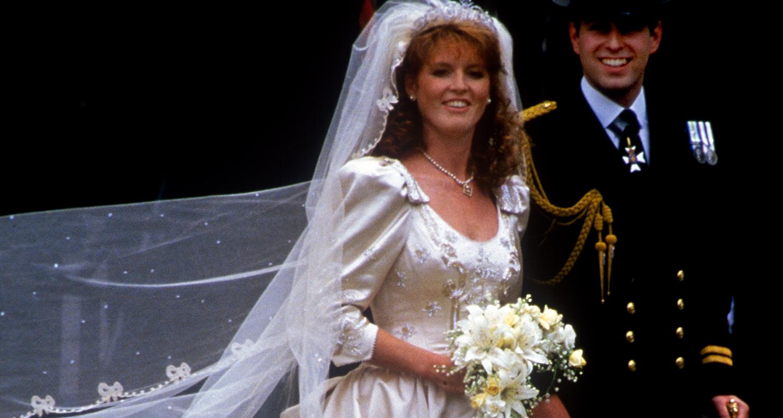 Royal Wedding Sarah Fergie Ferguson S Wedding Dress Photos New Idea Magazine
