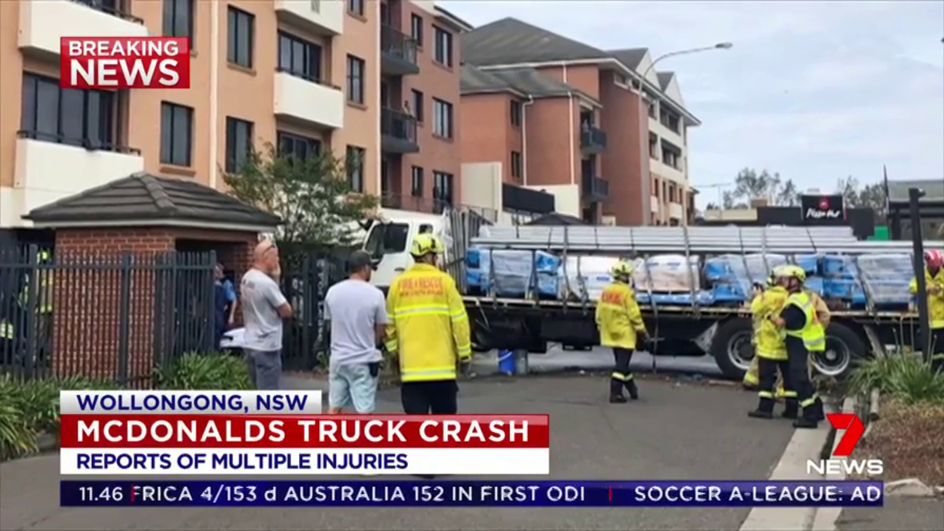 Truck crashes into Wollongong McDonalds