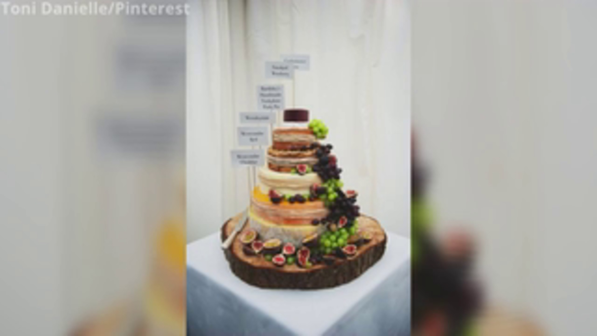 Meghan Markle and Prince Harry received a five-tier *cheese* wedding cake, and it is so Pinterest-worthy