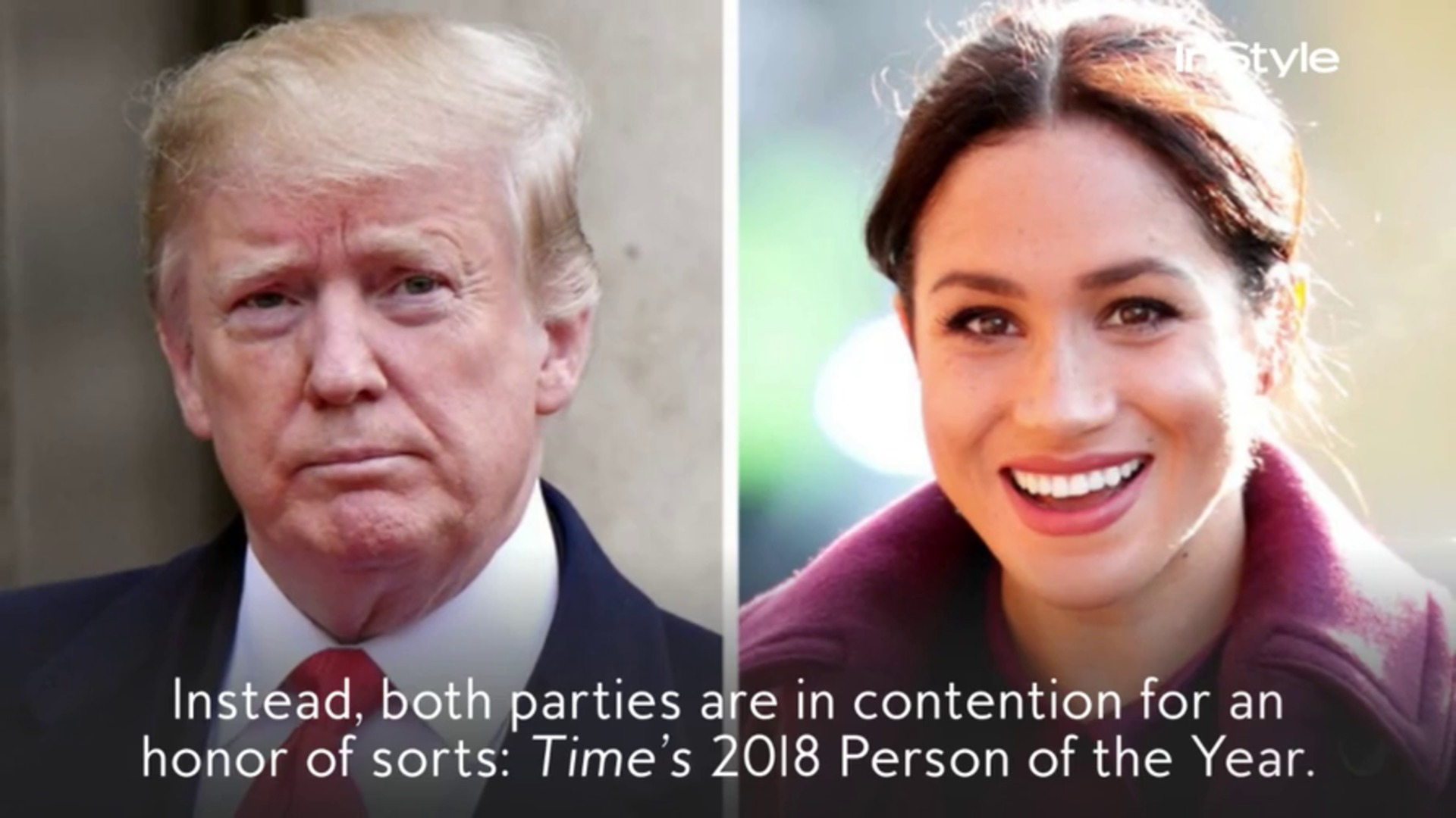 Meghan Markle and Donald Trump are facing off for the first time