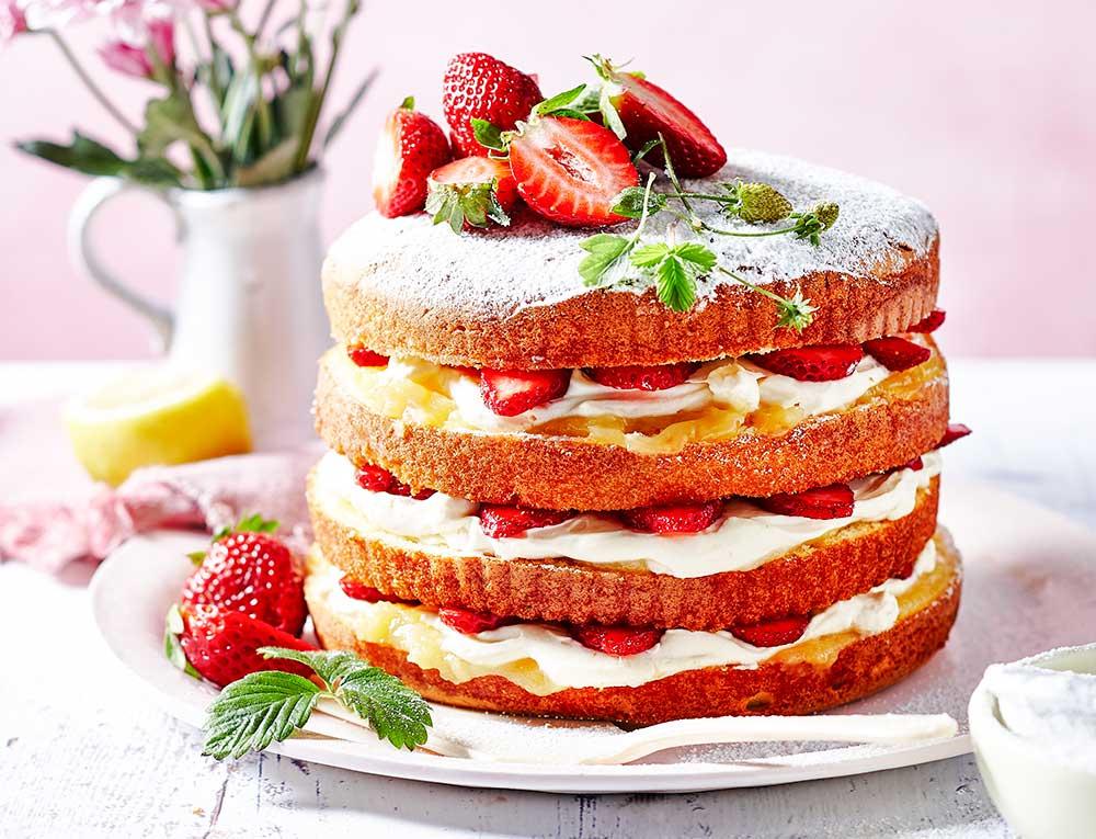 Sponge Cake Recipe Lemon Curd: Strawberry Lemon Curd Sponge Recipe