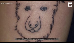 Aussie Tourist in Bali Mortified Over Dog Tattoo Resembling Male Genitals