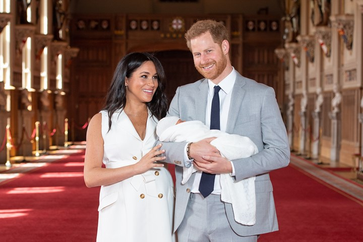 Prince Harry and Meghan Markle with their firstborn son Archie Harrison Mountbatten-Windsor in May, 2019
