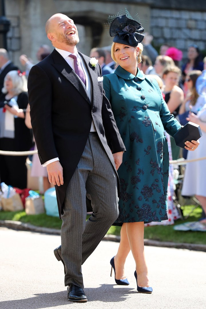 Zara Tindall - nee Phillips - with husband Mike at Prince Harry and Meghan Markle's royal wedding in May 2018