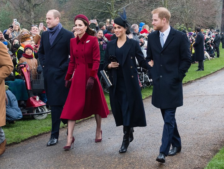 Princes William and Harry with their wives, Kate, Duchess of Cambridge and Meghan, Duchess of Sussex at Windsor in December 2018