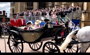 Royals don plumed hats for Garter Day service