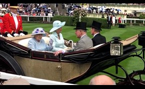 The Queen arrives at day two of Royal Ascot