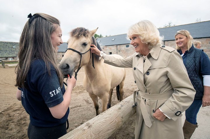 SEE THE PICS: Camilla Parker Bowles horses around in Scotland