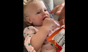 WATCH: Robin Thicke's fiancée SLAMMED for feeding their 16-month-old toddler Flamin' Hot Cheetos