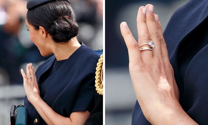 meghan markle s new engagement ring has a disturbing detail new idea magazine meghan markle s new engagement ring has