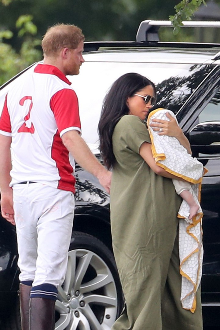 meghan markle and baby archie cheer on prince harry at the polo new idea magazine meghan markle and baby archie cheer on