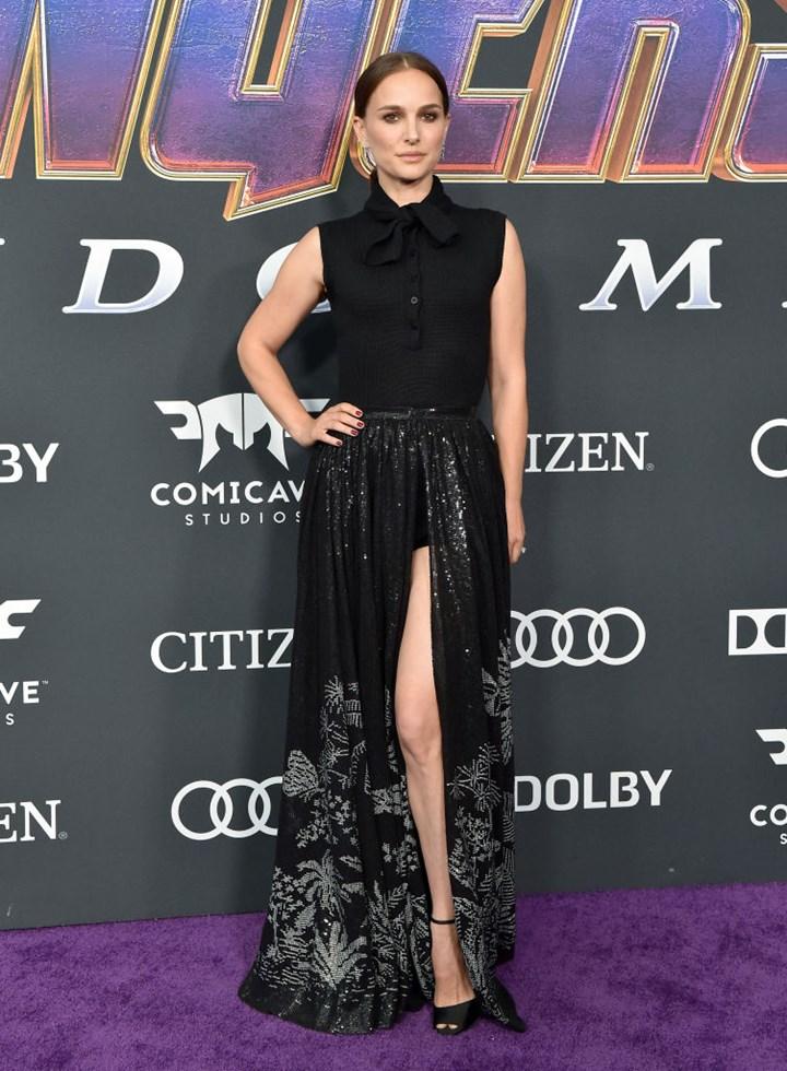 Natalie Portman no rastreio 'End Game' de um Avenger's 'End Game' Screening