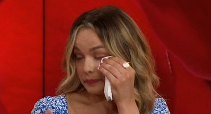 Tearful Abbie breaks down during TV interview over Bachelor Matt dumping her