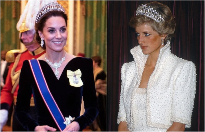 Kate Middleton wears Princess Diana's tiara for Queen's Christmas party