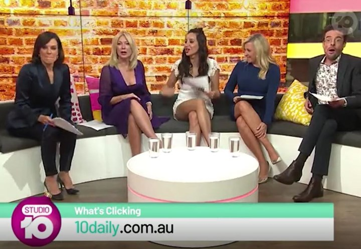 'Did you forget your pants?' Kerri-Anne Kennerly insults Studio 10 reporter