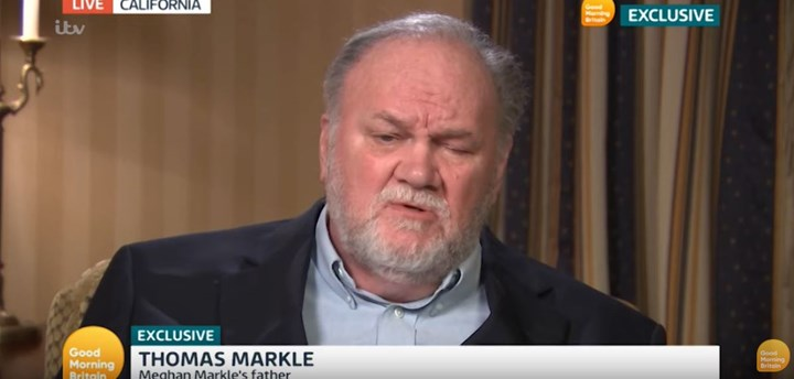 Thomas Markle says he's 'embarrassed' by Meghan Markle and Prince Harry