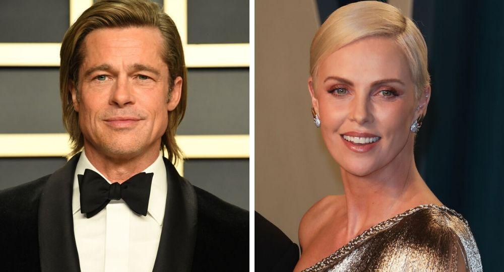 Brad Pitt reunites with ex Charlize Theron - New Idea