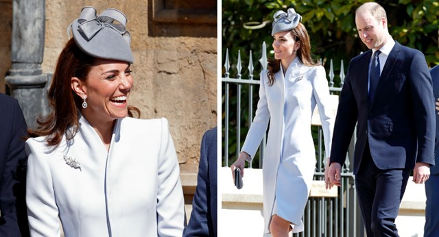 2365e703a6430 Kate Middleton steals the show in powder blue Alexander McQueen for ...