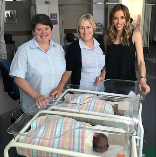 Bec Judd thanks nurses who cared for premmie twins