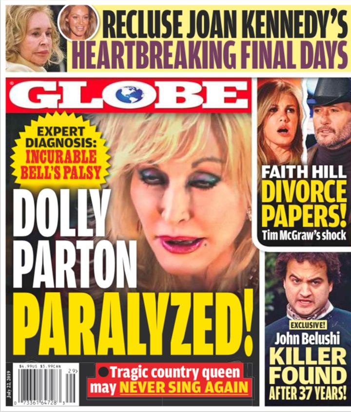 US report: 'Dolly Parton paralysed'