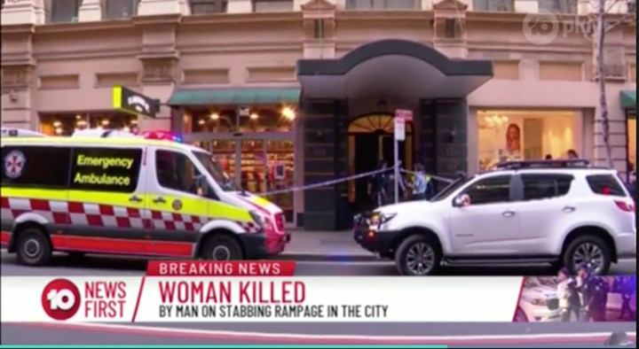 Murdered in her own home: Horror as Sydney knife rampage victim's body is taken away
