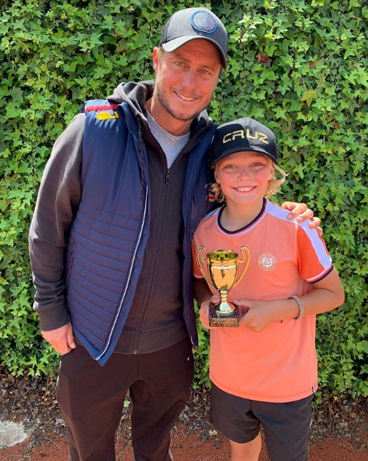 Lleyton Hewitt's son follows in his footsteps